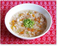 大麦とアマニの野菜粥