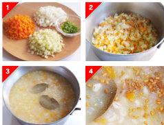 大麦とアマニの野菜粥の作り方